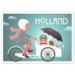 050 ansichtkaart fashion girls holland bakfiets