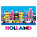 216 ansichtkaart holland colored canal houses
