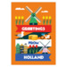 220 ansichtkaart holland dutch flag with icons
