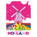221 ansichtkaart holland mill with tulipfields
