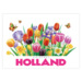 228 ansichtkaart holland colorful flowers