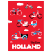983 magneet holland bikes red sky