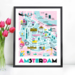 899 poster A3 Amsterdam city map